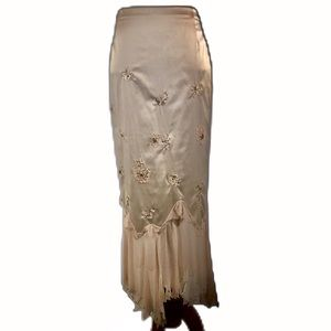 Mandalay satin embellished mermaid skirt